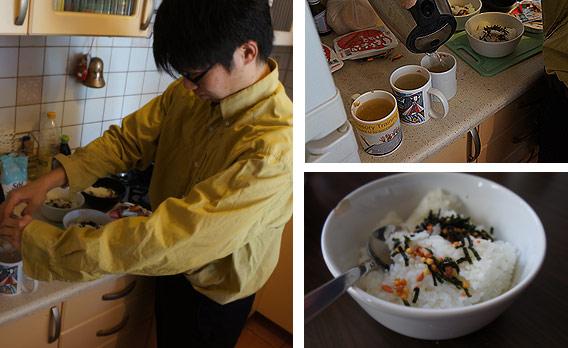 Oto i wspomniane japońskie śniadanie instant. Czas to pieniądz!