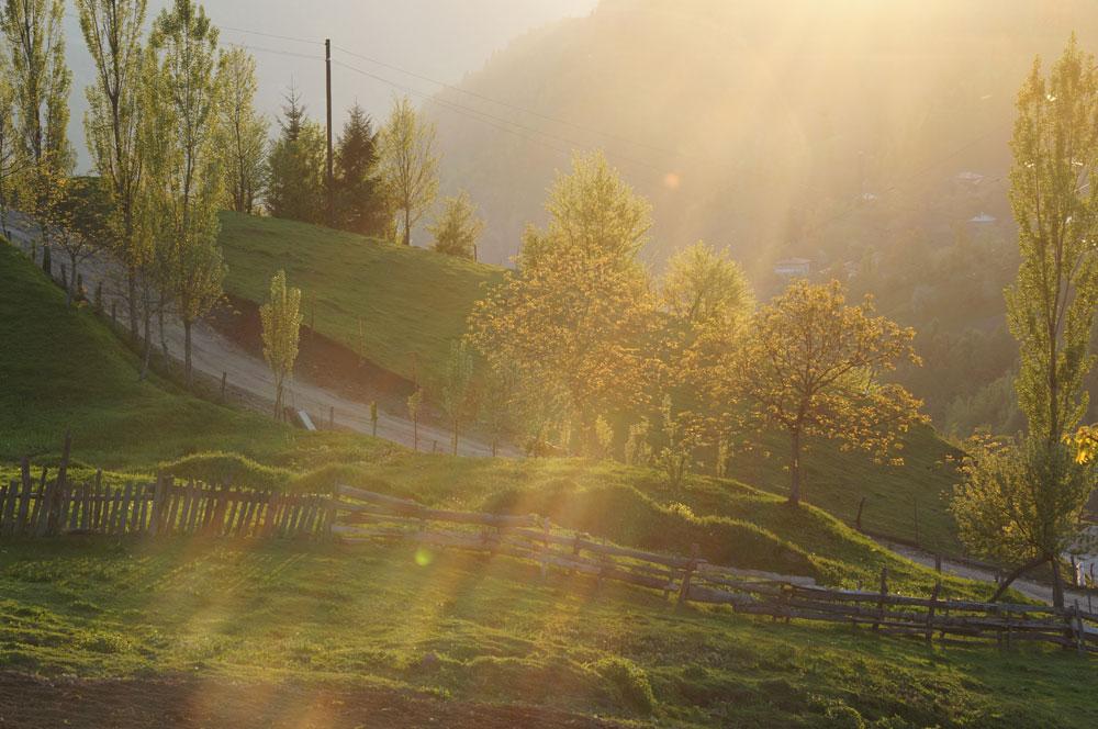 Nocleg przed przełęczą Goderdzi, jakieś tysiąc sto wysokości