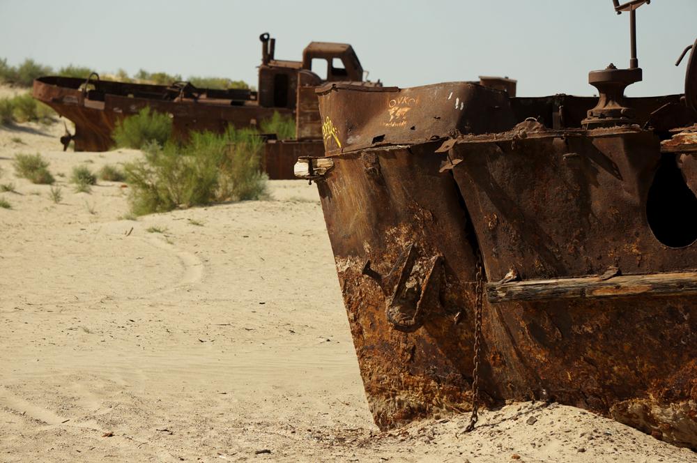 Jezioro Aralskie statki
