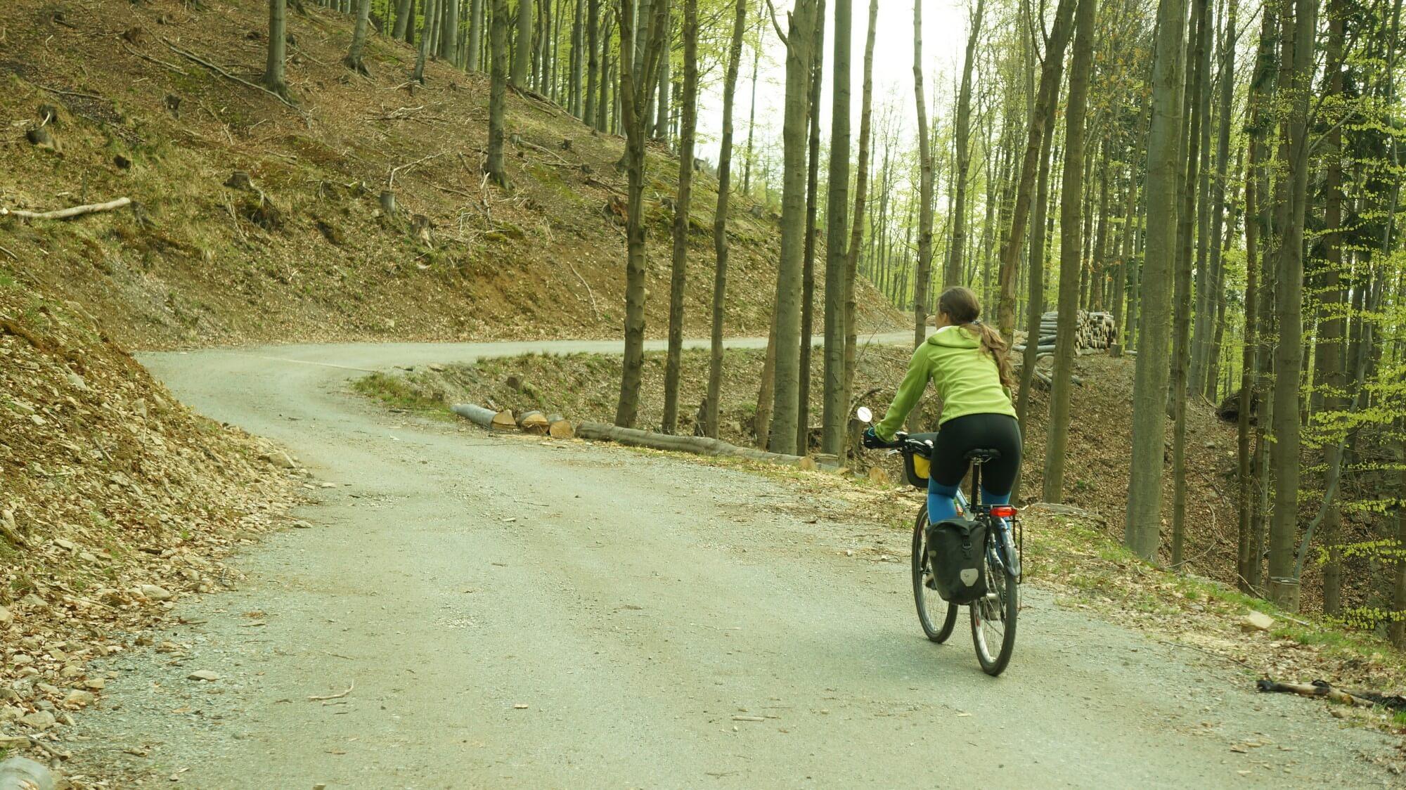 góry sowie rowerem