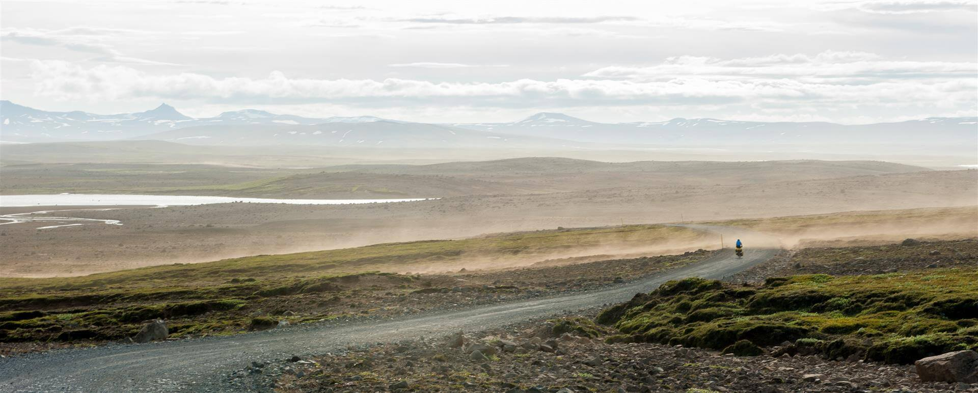 Islandia na rowerze - burza piaskowa