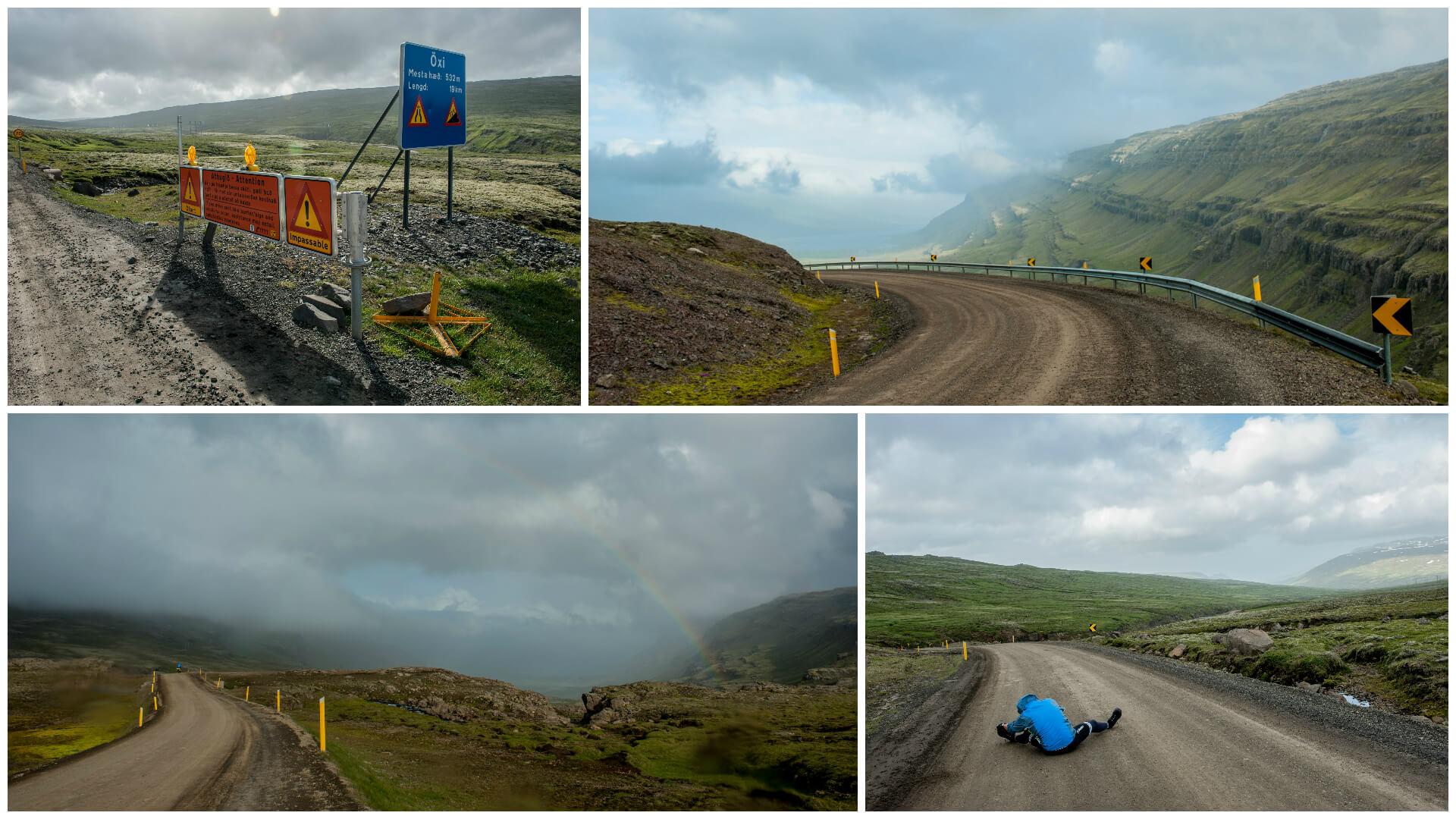 Islandia na rowerze - przełęcz Oxi