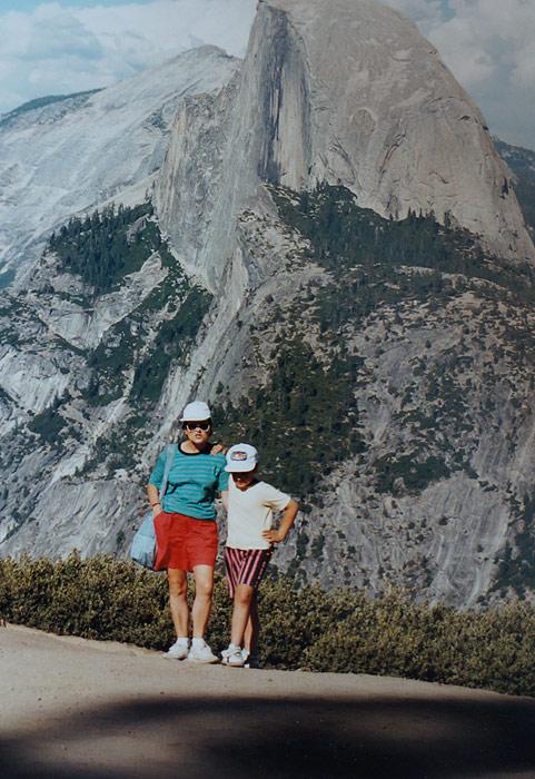 Park Narodowy Yosemite - Half Dome. Strasznie jestem ciekaw, czy dziś zrobiłby na mnie równie piorunujące wrażenie co wtedy. Patrząc na to zdjęcie czuję, że tak.