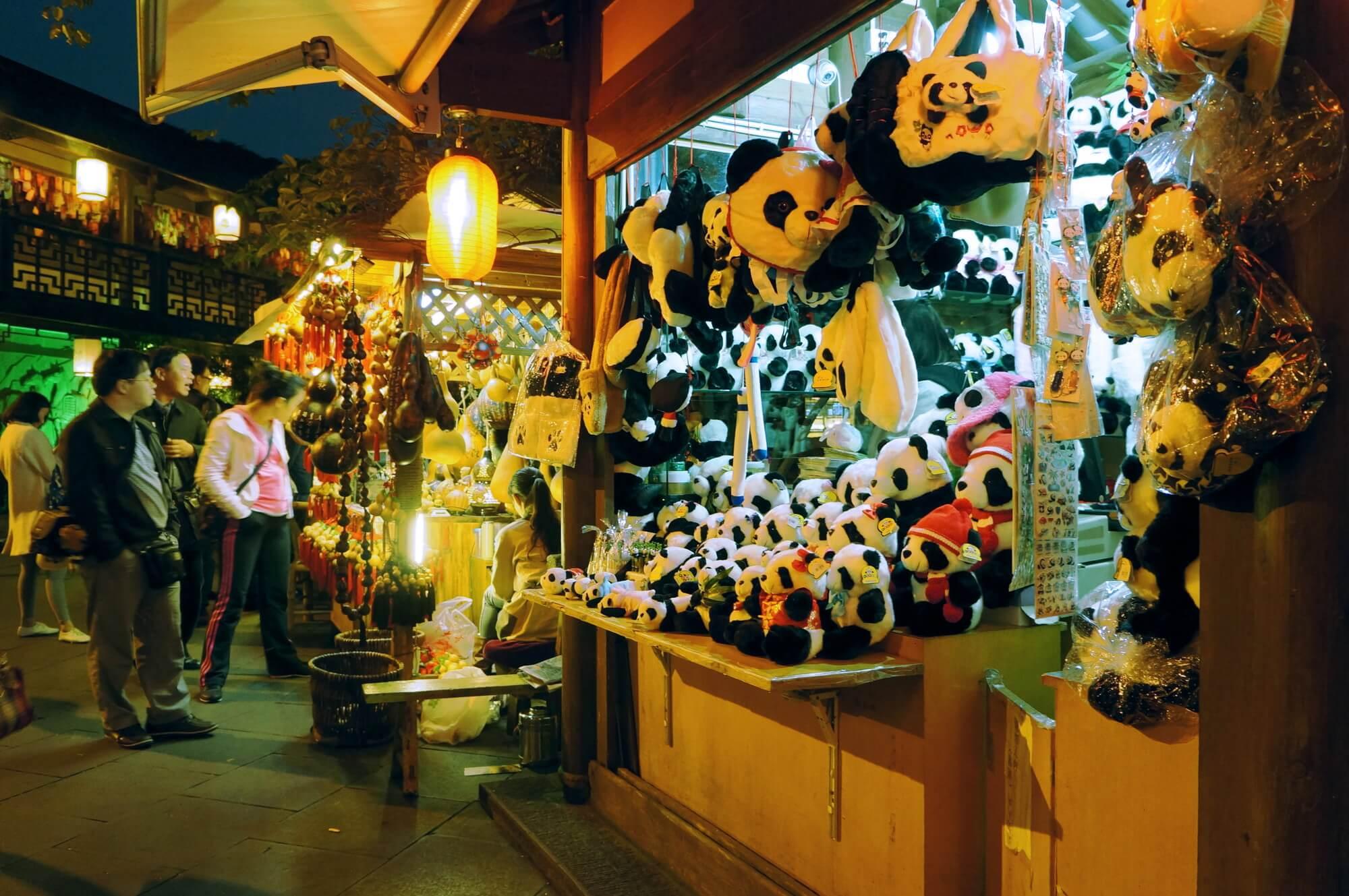 W Chengdu pandy są wszędzie