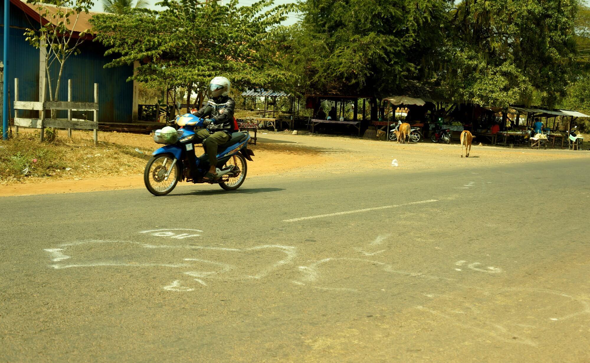 Niebezpieczne drogi - tutaj miało miejsce zderzenie dwóch skuterów