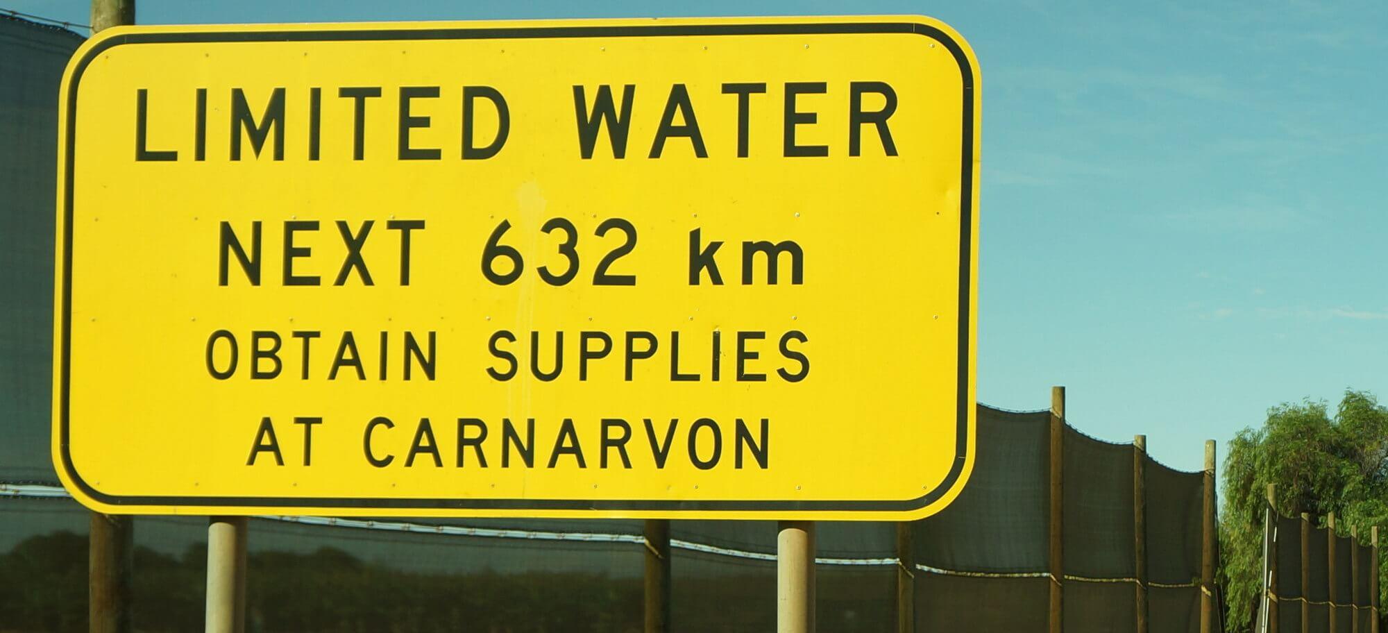 Australia limited water