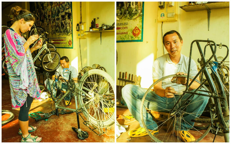 Jak przygotować rower? Wymiana przedniej piasty w wykonaniu laotańskiego profesjonalisty
