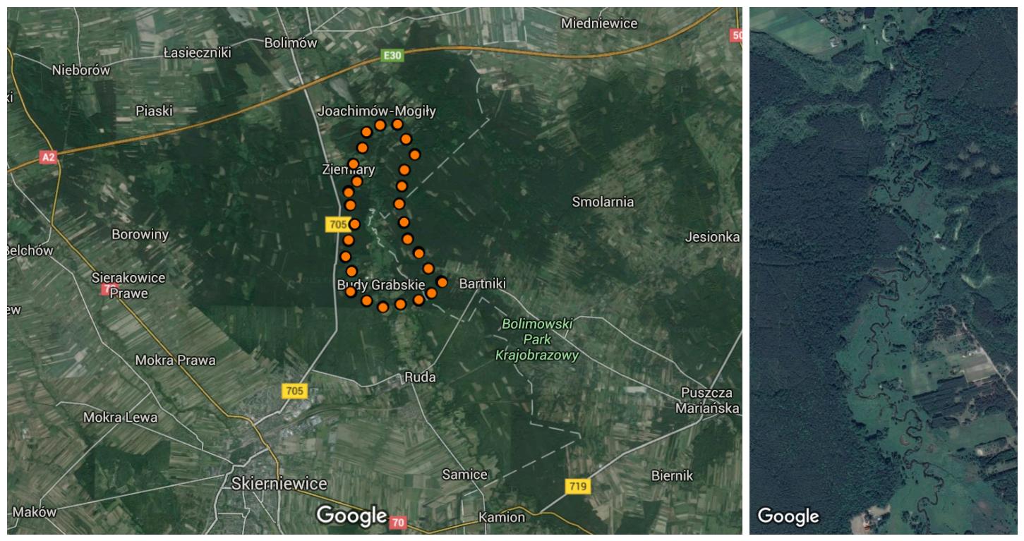 Bolimowski_Park_Krajobrazowy_google_mapa