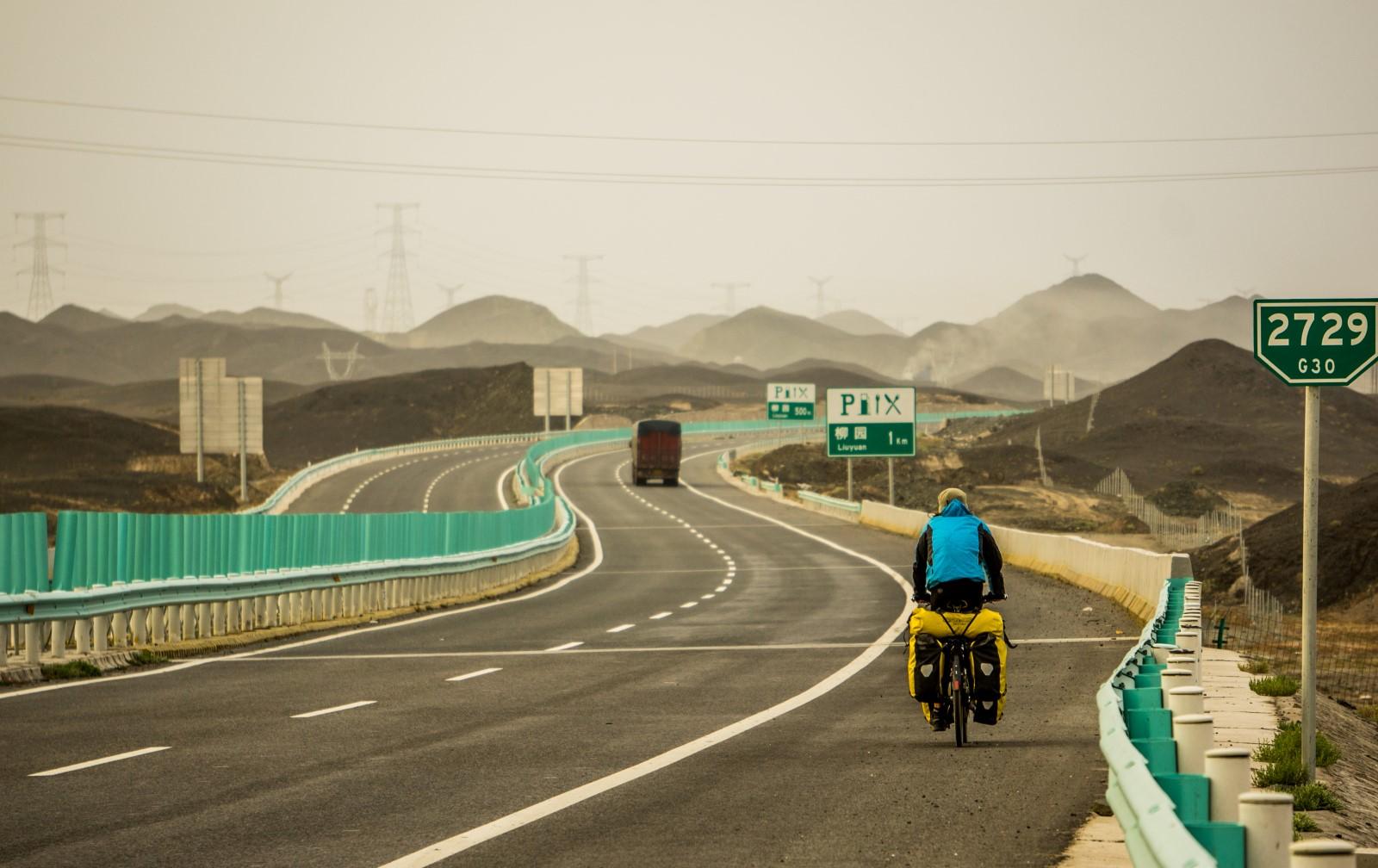Chiny_autostrada_Gansu