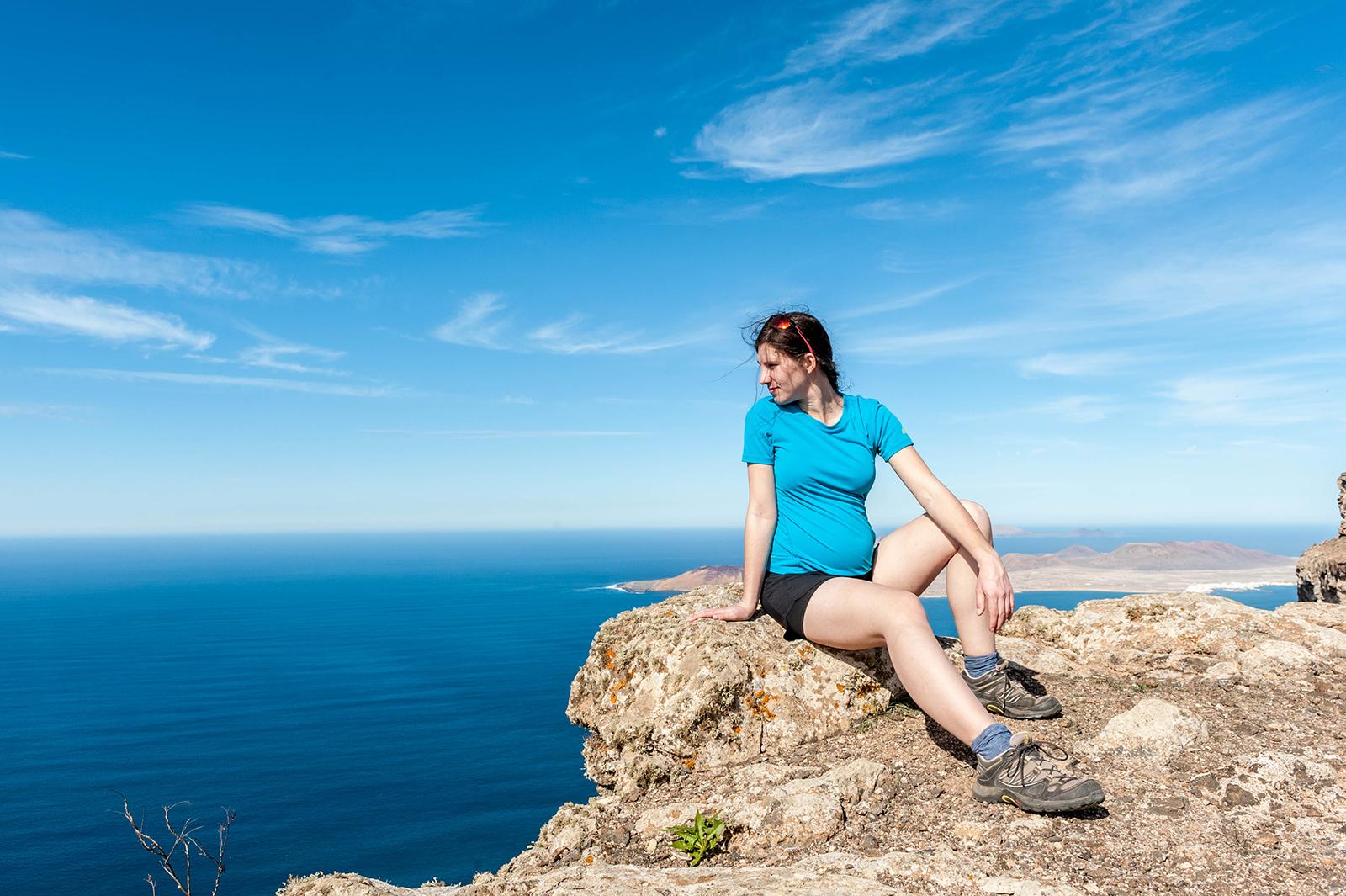 Trekking w ciąży - Lanzarote